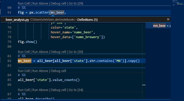 Code Peek example