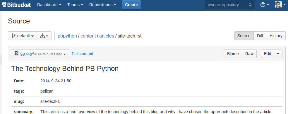 bitbucket editing