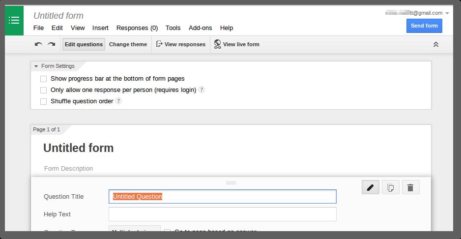 Google forms blank sheet