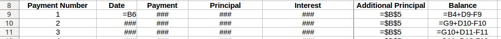 Excel Formula for Balance