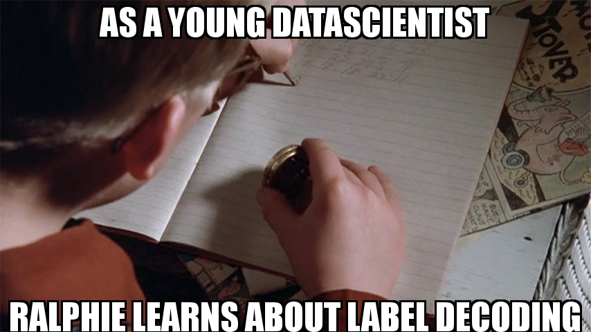 Ralphie as a young data scientist